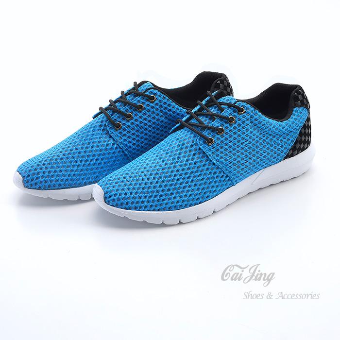 韓國APM造型與線條的時尚方格紋拼接與洞洞布超透氣/休閒鞋/懶人鞋-(3色)_采靚鞋包飾品_MIT台灣製