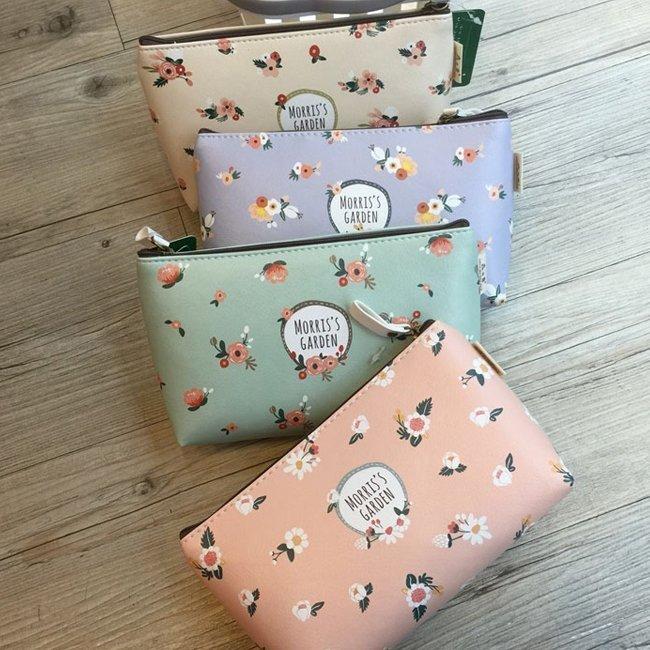 * Anne&Alice 包包購 *~花語春風多彩化妝包手拿包收納包~多色可選特價中~*