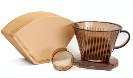 Taimo 102咖啡濾杯組 HG5011咖啡色 +HG3255-2 Tiamo 102 無漂白咖啡濾紙100入/袋裝 (2-4人用)