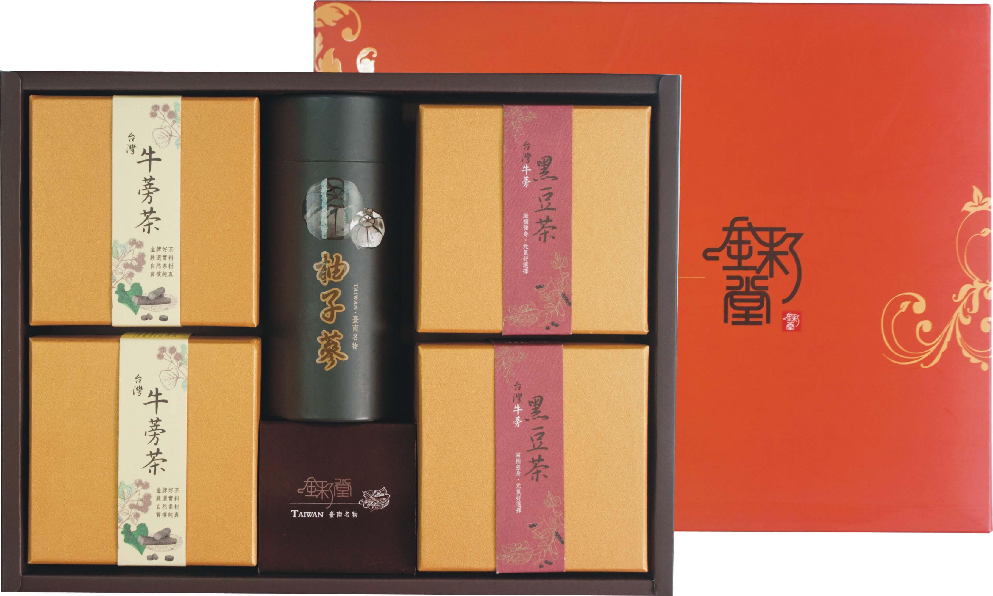 (養生牛蒡禮盒旗艦版)牛蒡茶15入*2 / 牛蒡黑豆茶15入*2,麻豆大白柚柚子蔘250g