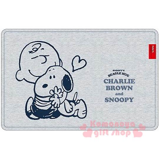 〔小禮堂〕史努比 圓角桌墊《灰.查理布朗.擁抱》也可當餐墊使用