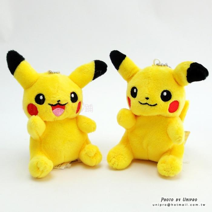 【UNIPRO】神奇寶貝 皮卡丘 Pikachu 9公分 珠鍊吊飾 絨毛娃娃 玩偶 Pokemon Go 禮物 正版授權