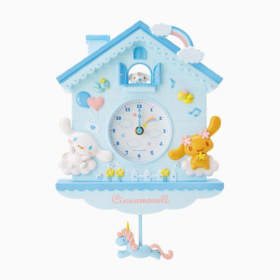【真愛日本】ED  藍屋掛鐘-CN搖擺獨角獸    三麗鷗家族 喜拿狗 大耳狗   鐘錶 時鐘 居家裝飾
