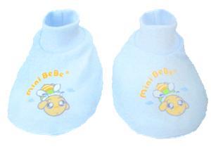 【蜜妮寶貝嬰童用品館】棉布腳套 / 藍色、黃色、粉紅
