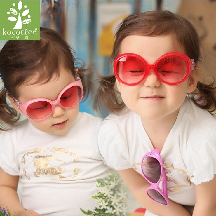 Kocotree◆新款糖果色粉嫩防紫外線護目兒童太陽眼鏡