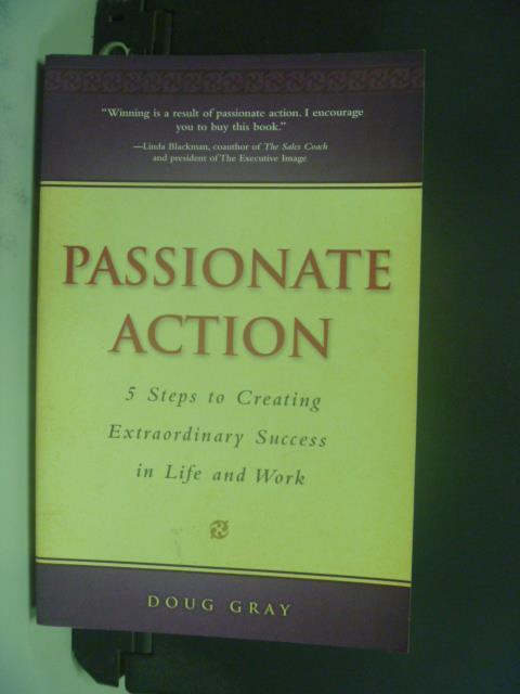 【書寶二手書T6/心靈成長_OLX】Passionate Action_Gray, Doug