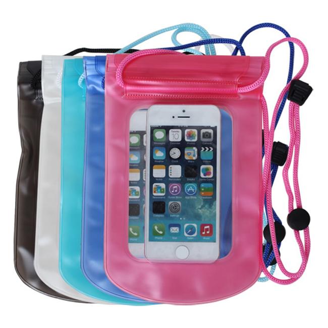隨機出貨- 雙封口簡易防水套 6吋內通用手機防水袋 防水包 下雨手機證件吊飾防水包 運動防水包 戲水必備
