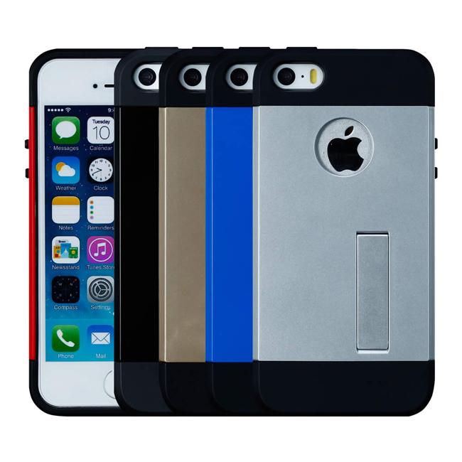 Ultimate- iPhone SE/5/5S  時尚輕甲雙件雙料可立手機殼 空壓技術防撞保護殼 保護套 非SGP