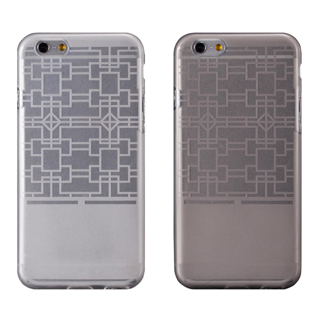 "Ultimate- iPhone 6 (4.7"") 摩登紋路全透軟質保護殼 防塵設計 手機背蓋 時尚壓紋清水套 i6透明軟殼 果涷套 聖誕交換禮物"