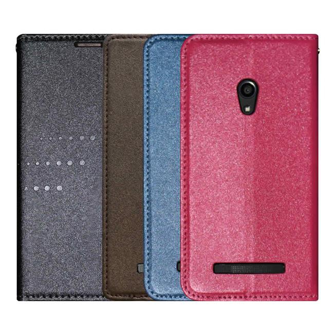 Ultimate- ASUS Zenfone5 絢麗金沙紋隱磁可立式皮套 手機支架皮套 可立式保護套 果凍 硬殼