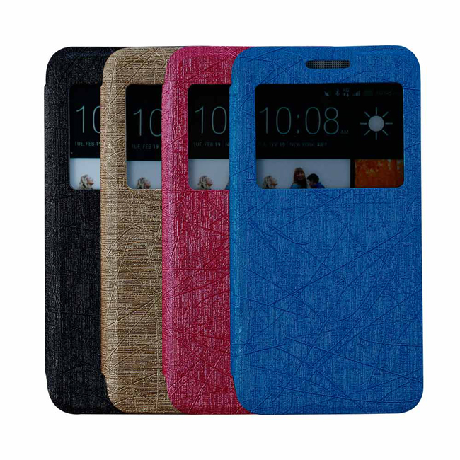 Ultimate- HTC ONE (M7)  雨絲紋來電顯示可立式手機皮套 手機支架皮套 可立式保護套 果凍 硬殼