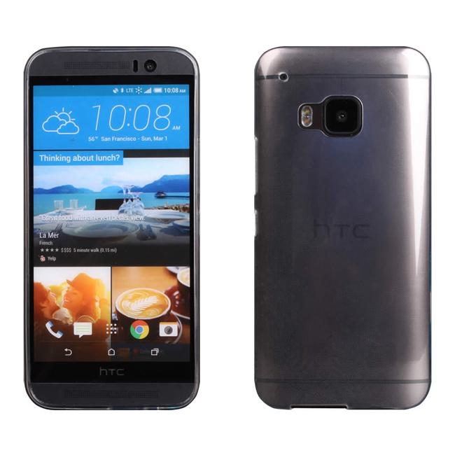 Ultimate- HTC One (M9) 超薄全透點紋軟質手機外殼防摔背蓋保護套 TPU透明軟殼 保護殼 手機殼