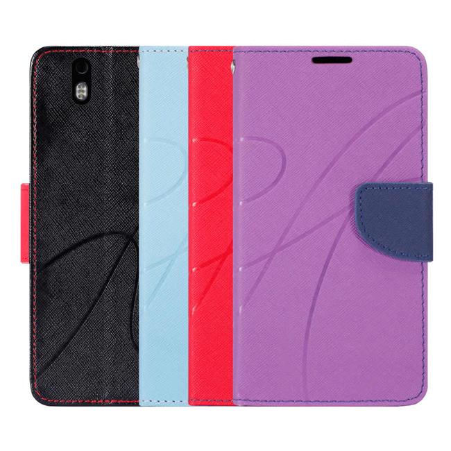 Ultimate- Infocus m810 新潮美紋撞色可立式皮套 手機支架皮套 可立式保護套 卡片收納手機