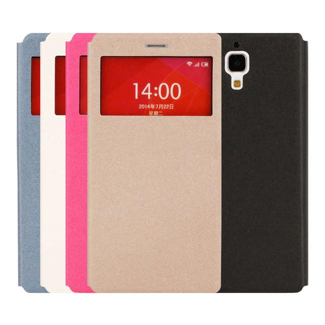 Ultimate- 小米4 絢麗金沙紋來電顯示可立式皮套 手機支架皮套 可立式保護套 果凍 硬殼