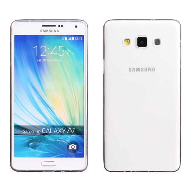 Ultimate- Samsung A7 超薄全透點紋軟質手機外殼防摔後背蓋保護套 軟殼 保護殼 三星A7手機殼