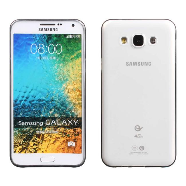 Ultimate- Samsung E5 超薄全透點紋軟質手機外殼防摔後背蓋保護套 軟殼 保護殼 三星E5手機殼