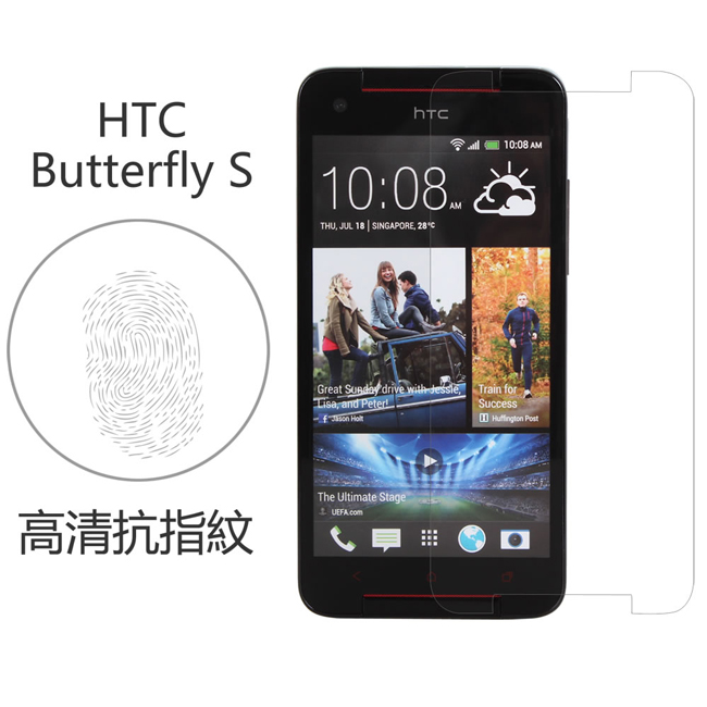 Ultimate- HTC Butterfly S 高清抗指紋保護貼 高清抗指紋防油汙灰塵 超薄螢幕膜 手機膜 保貼