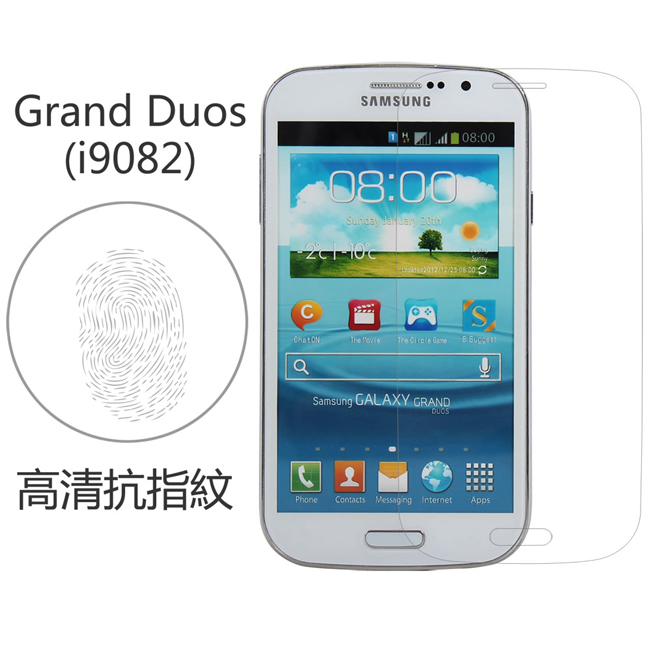 Ultimate- Samsung Grand Duos(i9082) 高清抗指紋保護貼 防油汙灰塵 超薄螢幕貼膜