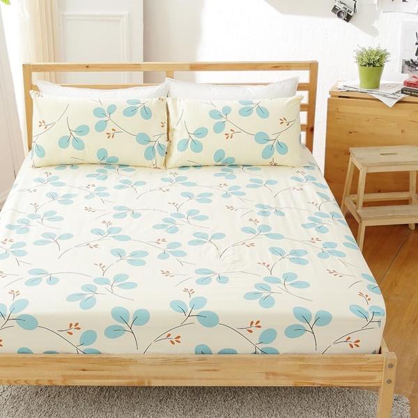 [SN]#B150#寬幅100%天然極緻純棉5x6.2尺雙人床包+枕套三件組*台灣製/SGS檢驗/床單/床巾