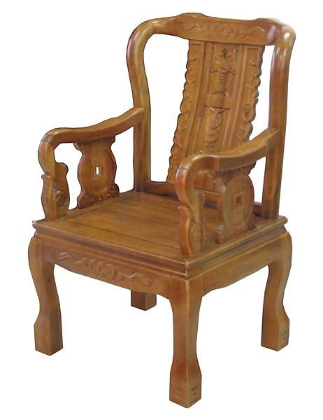 【尚品家具】702-15 樟木實木太師椅主人椅辦公椅