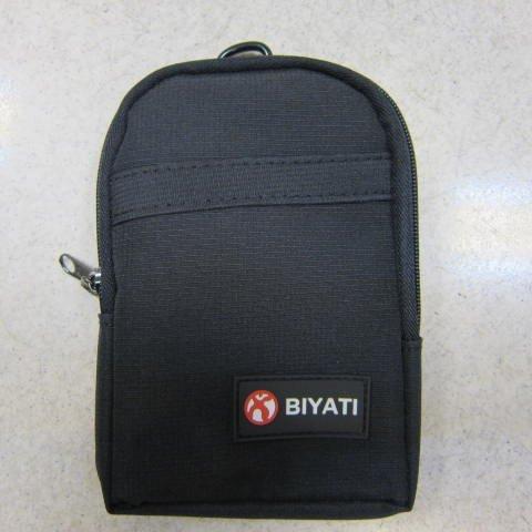 ~雪黛屋~BIYATI 腰掛包 腰包 隨身物品專用包5.5寸手機專用包防水尼龍布材質二層拉鍊主袋口 #1272黑