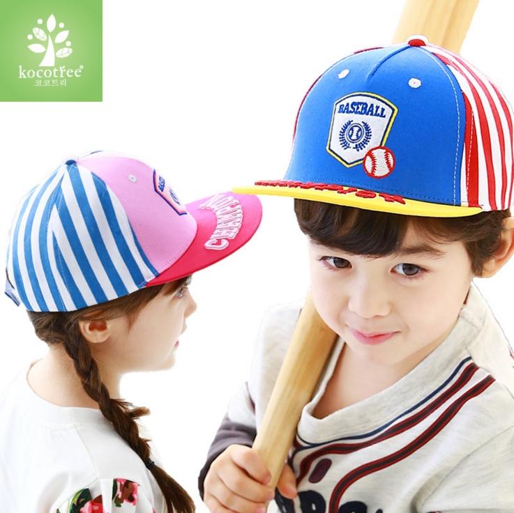 Kocotree◆時尚質感刺繡字母棒球徽章兒童休閒運動鴨舌棒球帽