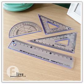 【aife life】透明套尺組/量角器圓規三角板尺規建築室內設計製圖美工文具組