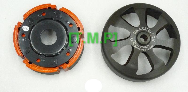 T.M.P 仕輪部品 MAXSYM 400i 鑄鋼六爪斜溝碗公+極限版離合器