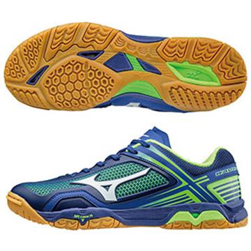 81GA171001〈藍X白X綠〉WAVE MEDAL Z 高階預級桌球鞋  S【美津濃MIZUNO】
