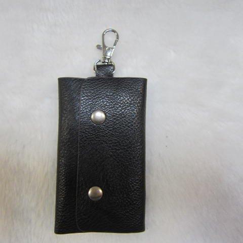 ~雪黛屋~SANDIA-POLO 專櫃品牌鑰匙包100%進口牛皮革材質6支鑰匙容量設計70-SA1301 素面黑