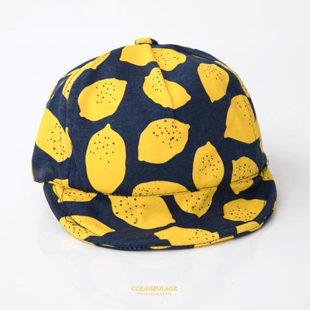 嬰兒童帽 時尚可愛檸檬遮陽軟簷鴨舌帽 棉質透氣親膚 魔鬼氈可調整 柒彩年代【NHC3】單頂價格