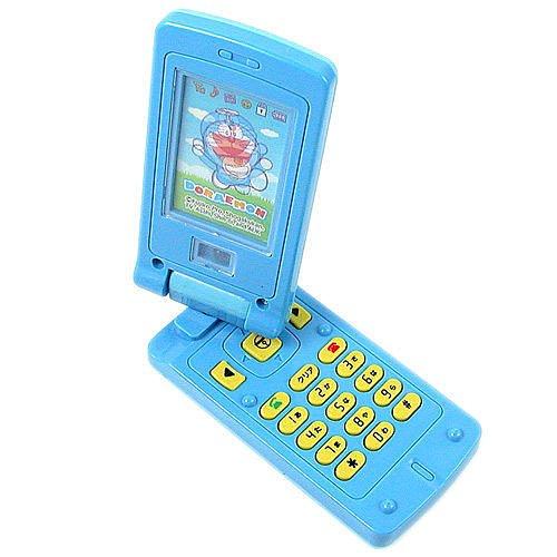 =優生活=日本原裝 哆啦A夢.小叮噹 2D 會說話 聲光音樂 玩具手機 附貼紙 兒童手機