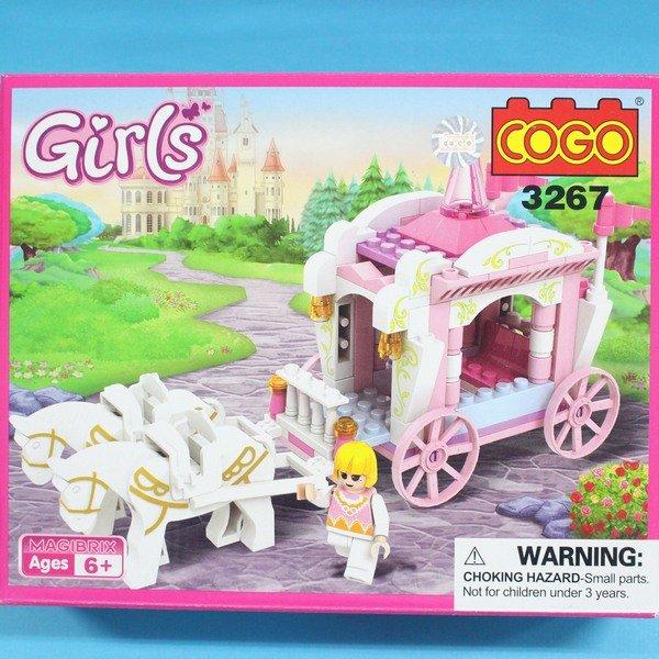 COGO積木 3267 童話公主系列-公主馬車 益智積木 約99片/一盒入{促180}~可與樂高混拼裝