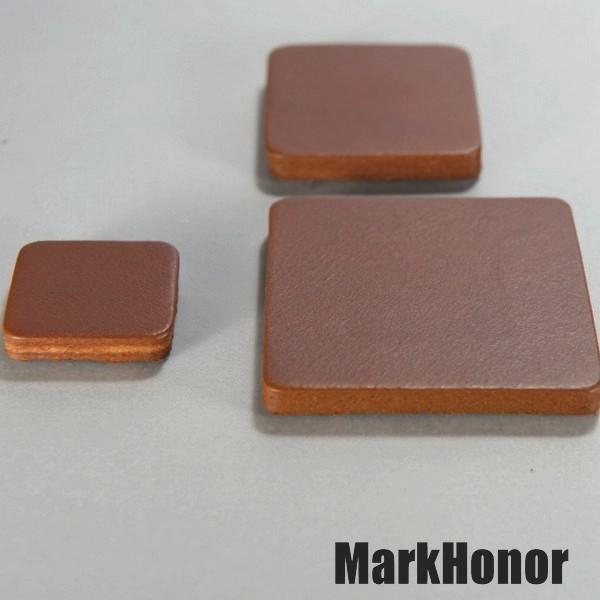磁鐵 真皮皮革 咖啡 方邊長4公分-Mark Honor