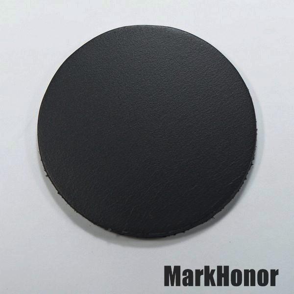 皮革牛皮皮製真皮杯墊皮杯墊(黑)圓直徑7.5公分-Mark Honor