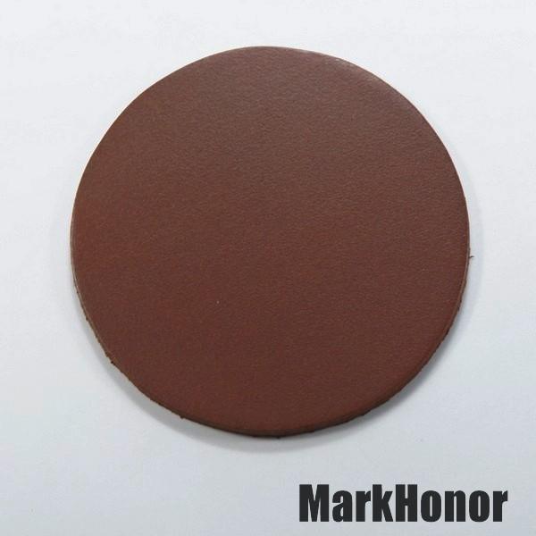 皮革牛皮皮製真皮杯墊皮杯墊(咖啡)圓直徑7.5公分-Mark Honor