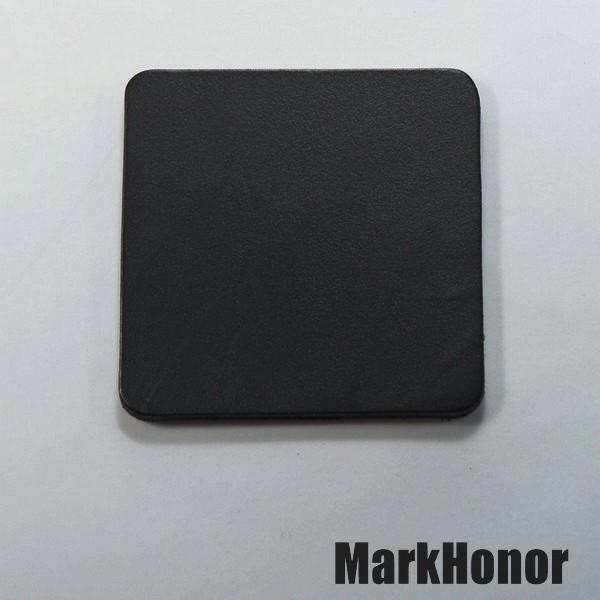 皮革牛皮皮製真皮杯墊皮杯墊(黑)方邊長6公分-Mark Honor