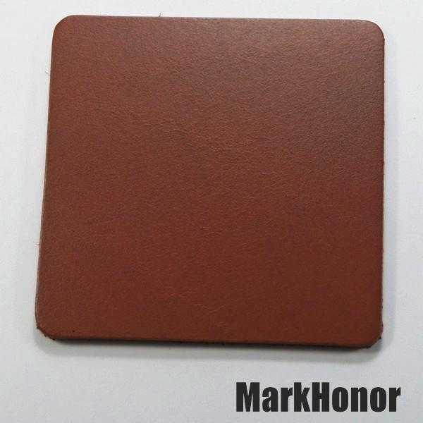 皮革牛皮皮製真皮杯墊皮杯墊(咖啡)方邊長8公分-Mark Honor