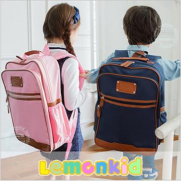 Lemonkid◆新款升級版學院風側網袋好質感耐用牛津布兒童書包雙肩包後背包