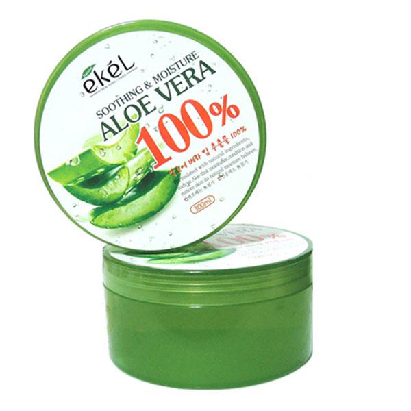 韓國ekel 100% 舒緩保濕補水蘆薈凝膠 300ml《BELLE 倍莉小舖》