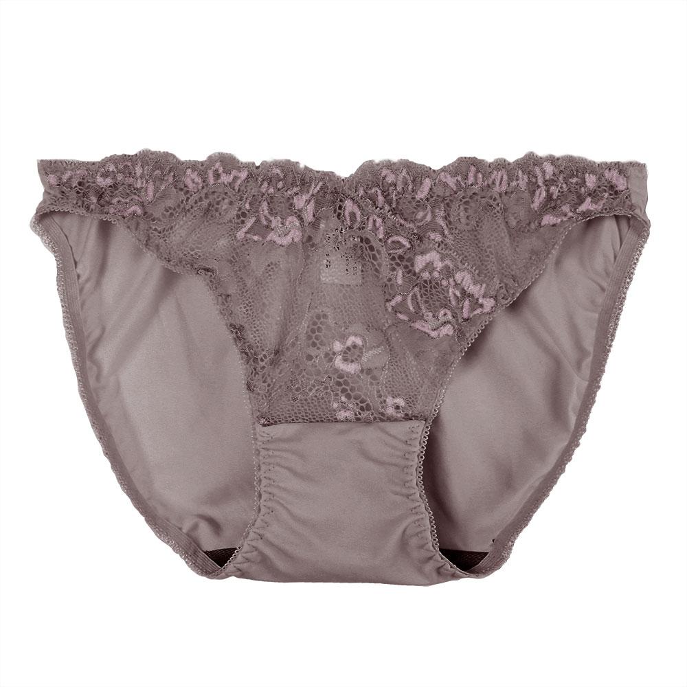 【夢蒂兒】黑絲絨蕾絲竹炭系列三角褲(芋紫)