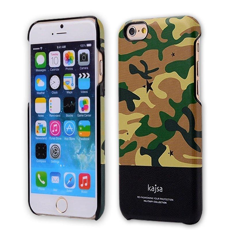 kajsa迷彩磨砂保護殼/iPhone 6 plus 5.5/手機殼/防刮殼/保護殼/PC保護?【馬尼行動通訊】