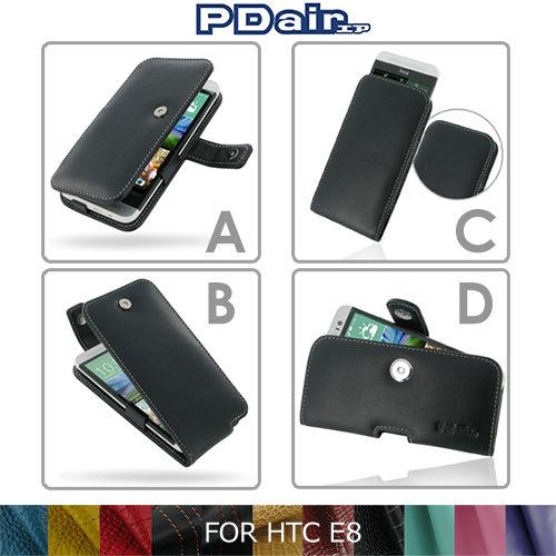 PDair HTC All New One E8 側翻 / 下掀式 手拿直式 腰掛橫式皮套 可客製顏【馬尼行動通訊】