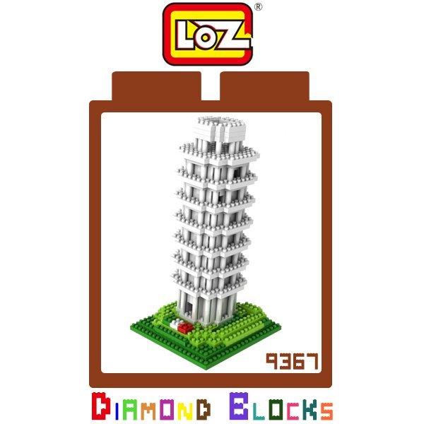LOZ 鑽石積木 9367 比薩斜塔 560PCS/益智/趣味/迷你/腦力激盪/玩具/公仔/積木/智力【馬尼行動通訊】