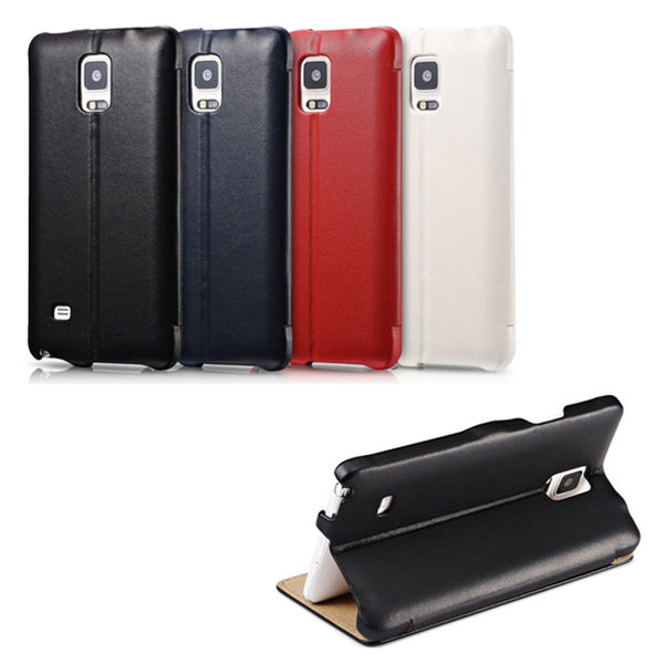 ICARER 奢華系列 SAMUSUNG Galaxy Note 4 磁扣側掀 手工真皮皮套 NOTE4【馬尼行動通訊】