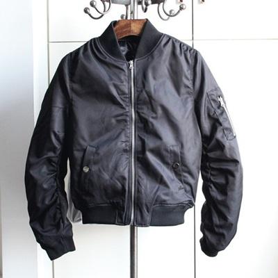 空軍夾克 MA1外套-純色修身個性短款女外套2色72av2【獨家進口】【米蘭精品】