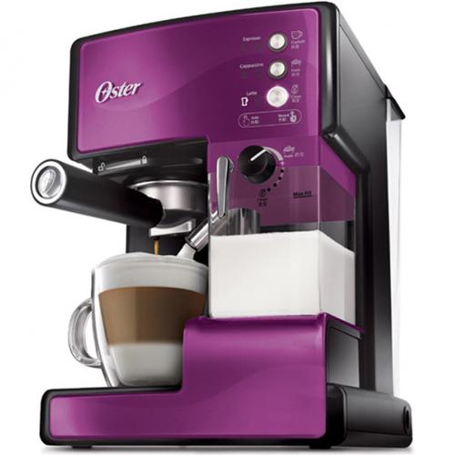 OSTER 美國  第二代奶泡大師 義式咖啡機  BVSTEM6602P 靛紫 PRO升級版 買就送雙層不銹鋼保溫飯盒