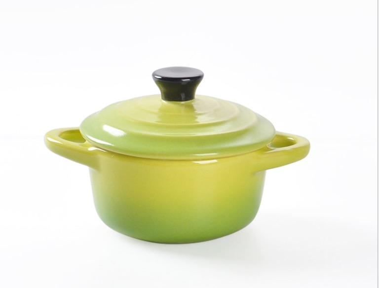 HOMA 彩色廚房 彩色烘培烤盅 濃湯碗適用焗烤、焗飯、布丁、蒸蛋、舒芙蕾  來自法國時尚色系 大綠色一個