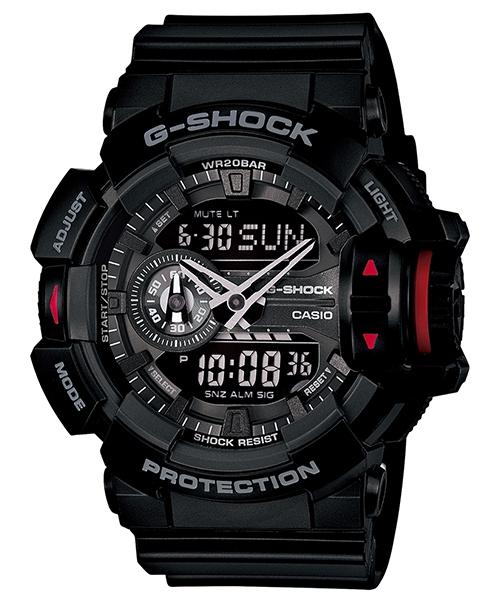國外代購 CASIO G-SHOCK GA-400-1A 雙顯 運動防水手錶腕錶電子錶男女錶 純黑
