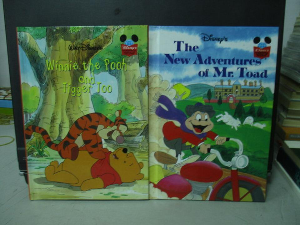 【書寶二手書T9/少年童書_NMQ】迪士尼-Winnie the pooh and tigger too等_共2本合售